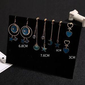 4 pairs / selected drop earring set